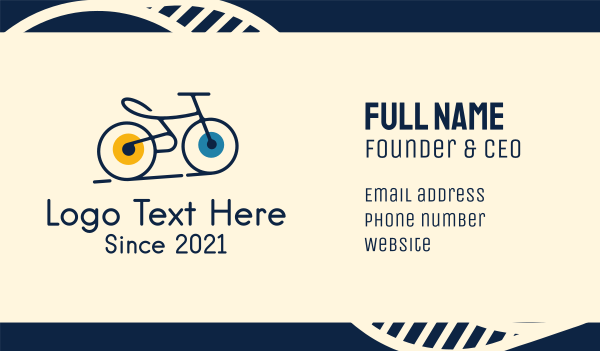 bike tour - Road Bike Cycle Business card horizontal design