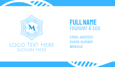 Frosty Snowflake Lettermark Business Card