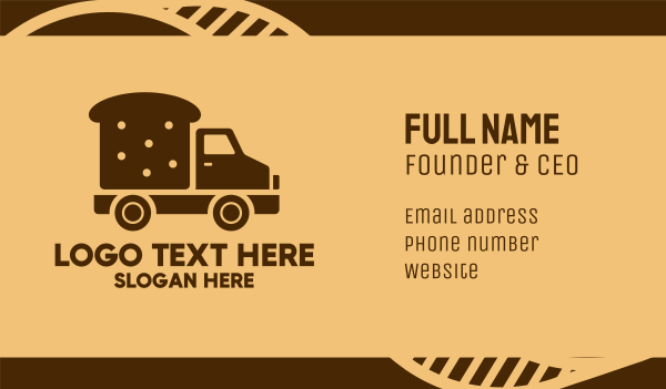 food delivery service - Bread Delivery Van Truck Business card horizontal design