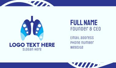 Blue Respiratory Dots Business Card