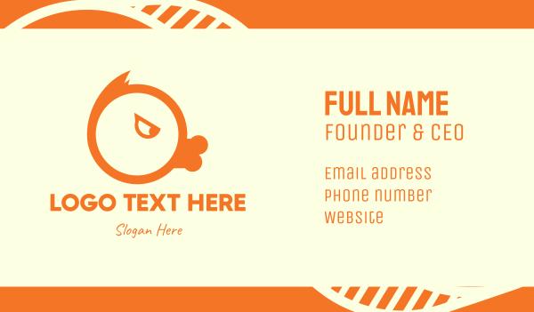 team mascot - Orange Angry Duck Business card horizontal design