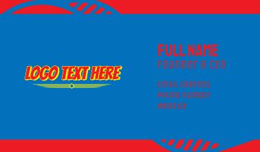 Bold Comic Superhero Wordmark Business Card
