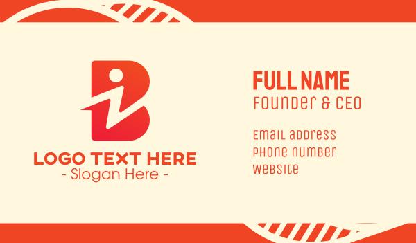 information - Tech I & B Business card horizontal design