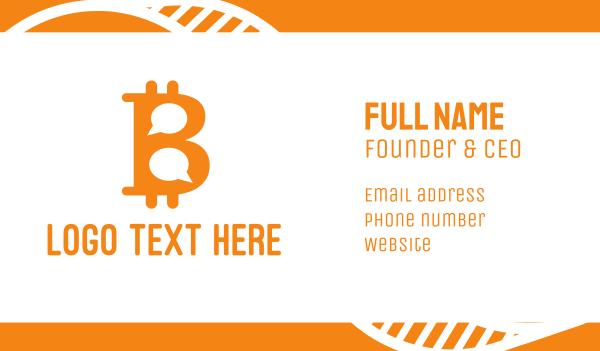 money - Bitcoin Chat Business card horizontal design
