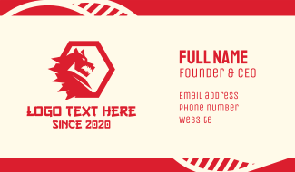 Red Hot Dragon Business Card