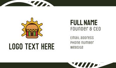 Hamburger Burger Shop Business Card