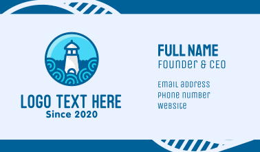 Coastal Marine Lighthouse Business Card
