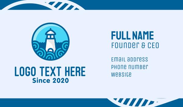 coast - Coastal Marine Lighthouse Business card horizontal design