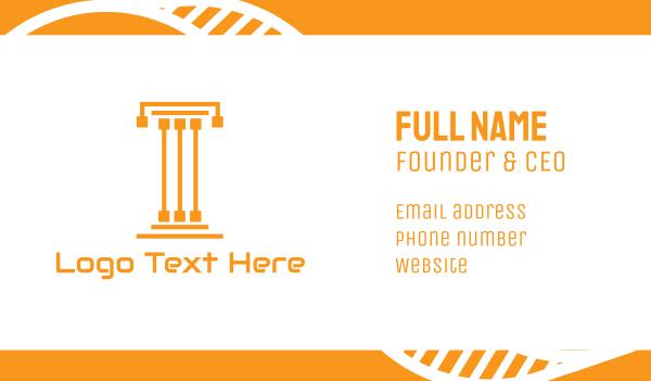 column - Tech Pillar T Business card horizontal design