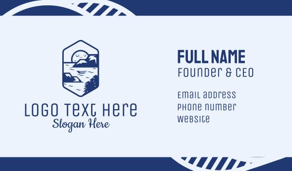 fishing - Ocean Sea Bay Emblem Business card horizontal design