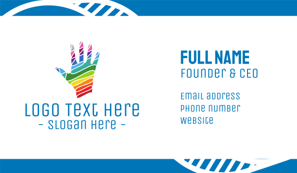 hand sanitizer - Colorful Hand Business card horizontal design