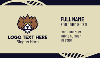 Grizzly Bear Business Card