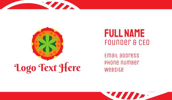indian restaurant - India Flower Spa Business card horizontal design