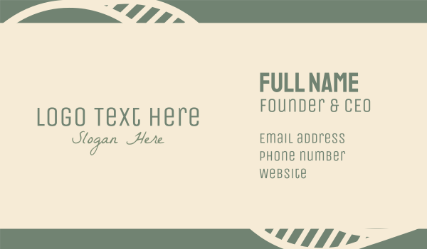 lodge - Green Spa Wordmark Business card horizontal design