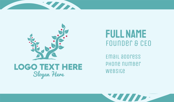tree - Forest Berry Tree Business card horizontal design