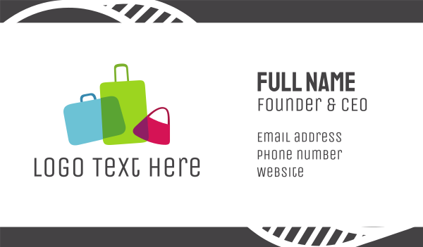 dress shop - Bag Shop Business card horizontal design