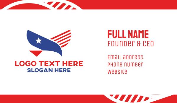 airforce - American Eagle Flag Business card horizontal design
