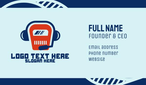 fluent - Tech Robot Talk Business card horizontal design