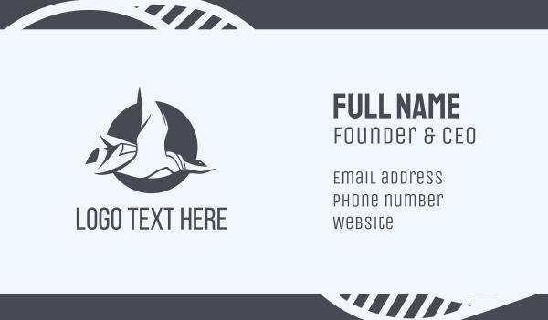 goose - Duck Circle Business card horizontal design