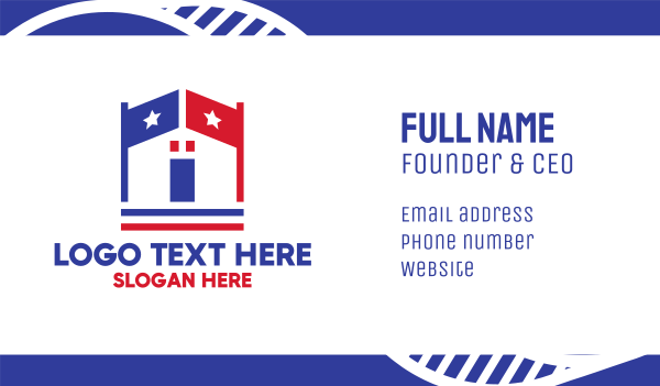 campaign - Patriotic Town Hall Business card horizontal design