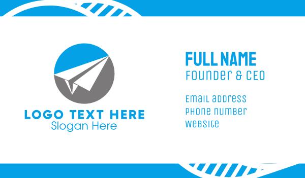 visionary - Paper Airplane Business card horizontal design