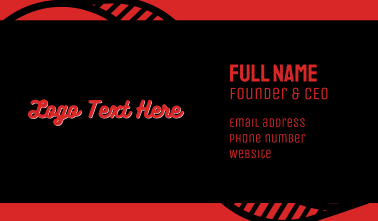 Red & White Font Business Card