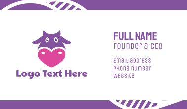 Violet Cow Head Business Card