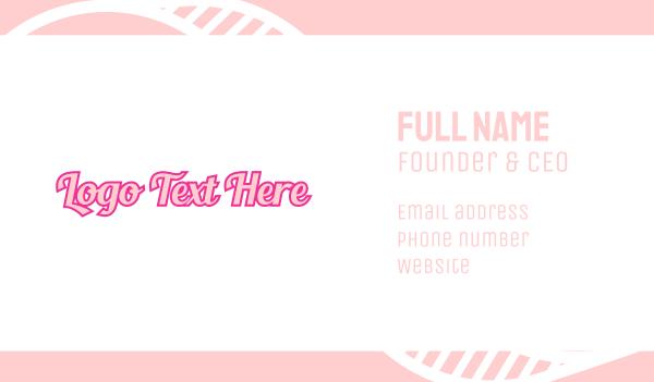 pop - Retro Fashion Wordmark Business card horizontal design