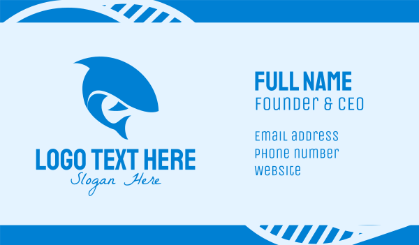 fin - Blue Shark Business card horizontal design