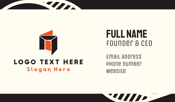 entry - Orange Room Business card horizontal design