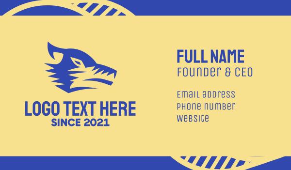 fierce - Blue Wolf Business card horizontal design