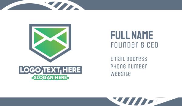 email - Envelope Shield Business card horizontal design
