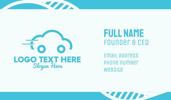 electronic - Cloud Car Business card horizontal design