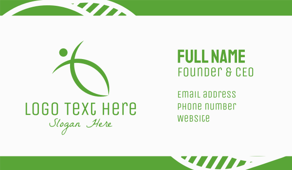 yoga training - Green Healthy Living Business card horizontal design