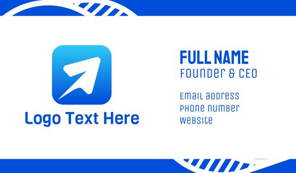 webpage - White Cursor App Business card horizontal design