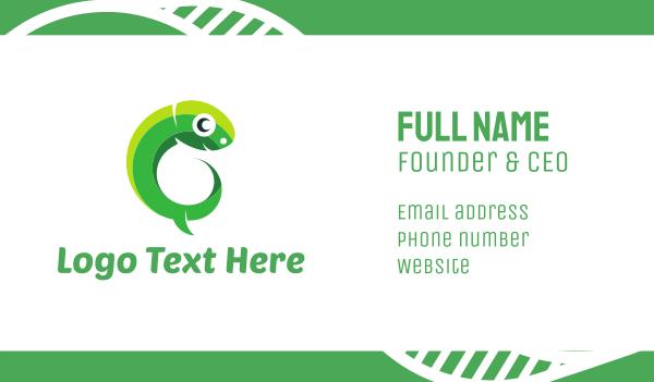 green lizard - Green Tadpole Business card horizontal design