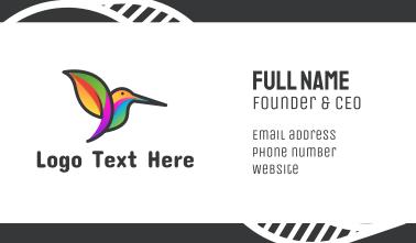 Tropical Hummingbird Business Card