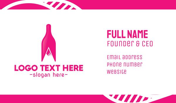 fermented - Magenta Wine Mountain Business card horizontal design