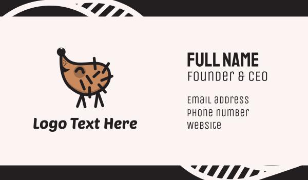 little - Happy Hedgehog Business card horizontal design