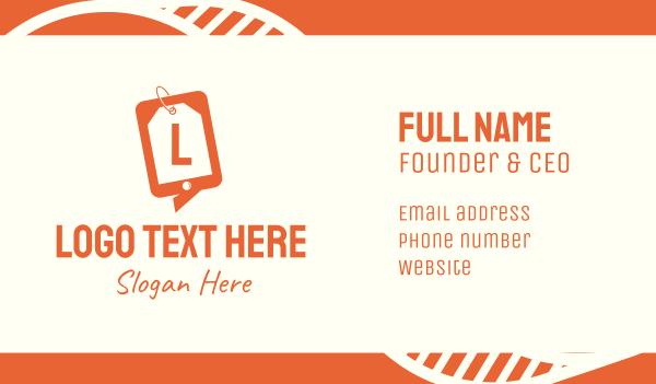 coupon - Online Shopping Sale Lettermark Business card horizontal design