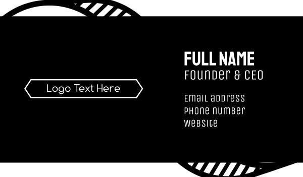 high end - Minimalist Fashion Font Business card horizontal design