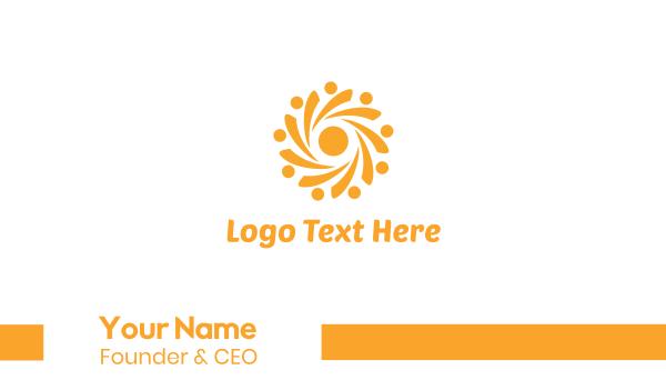 sunscreen - Yellow Sun Business card horizontal design