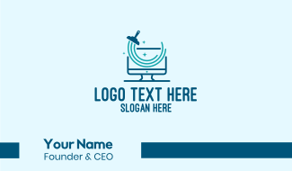 Clean Computer Monitor  Business Card