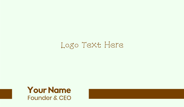 twig - Little Twigs Business card horizontal design