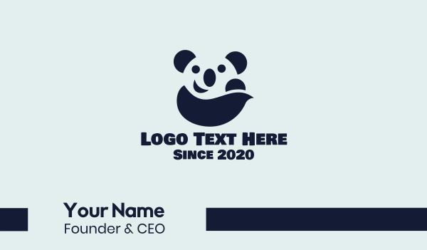 panda - Happy Panda Bear Business card horizontal design