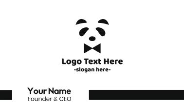 Panda Tuxedo Business Card