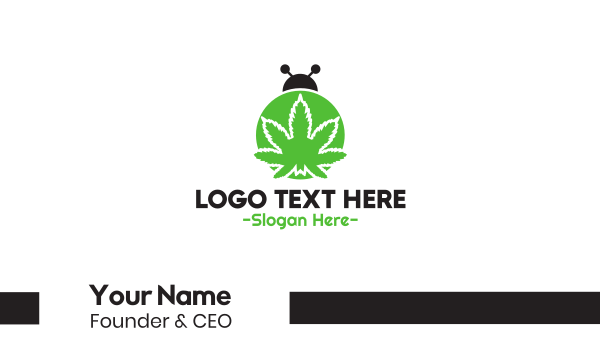 marijuana - Cannabis Bug Business card horizontal design