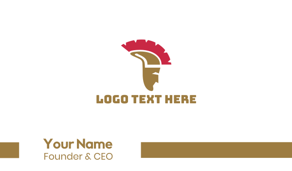 greek god - Greek Helmet Business card horizontal design