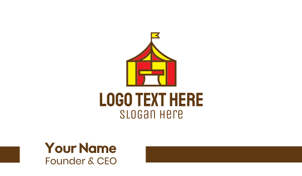 parade - Circus Tent Business card horizontal design