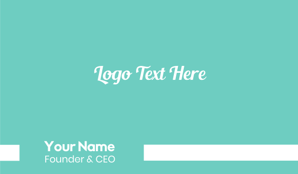 moisturizer - Aqua Fresh Text Business card horizontal design